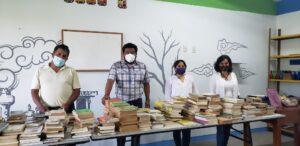 Donacion de libros para bibliotecas comunitarias de Oaxaca